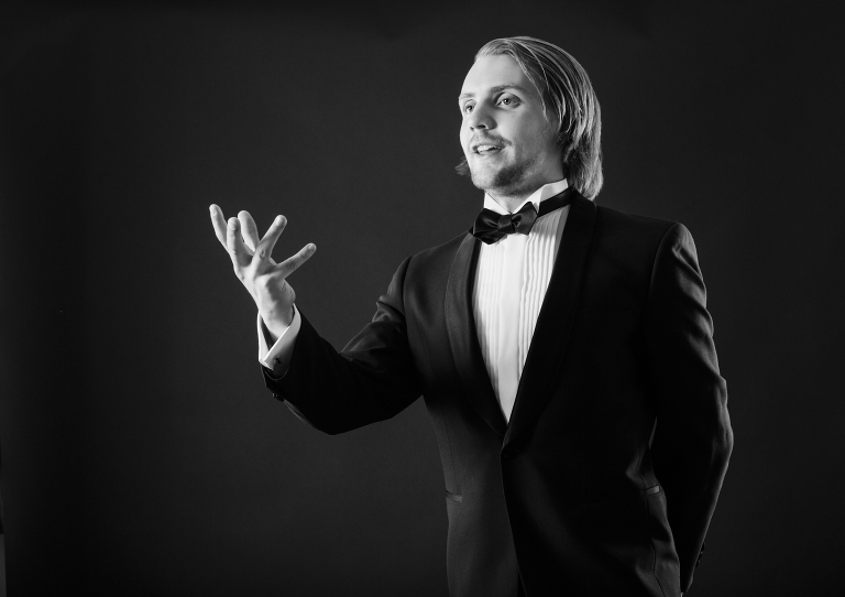 Yrkesporträtt operasångare av fotograf Helena Berzelius